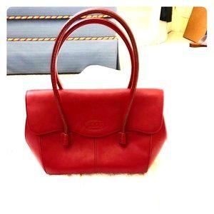 TOD's red shoulder bag